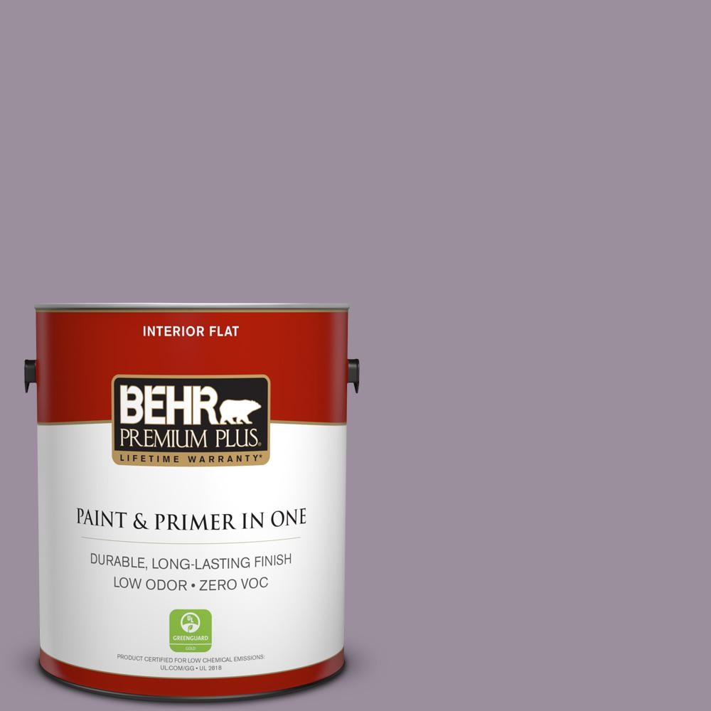 1 gal. #PPU16-13 Duchess Lilac Zero VOC Flat Interior Paint