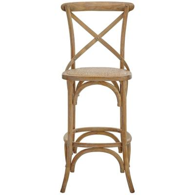 Hyde Cafe 30 in. Ash Grey Bar Stool with Cane Seat