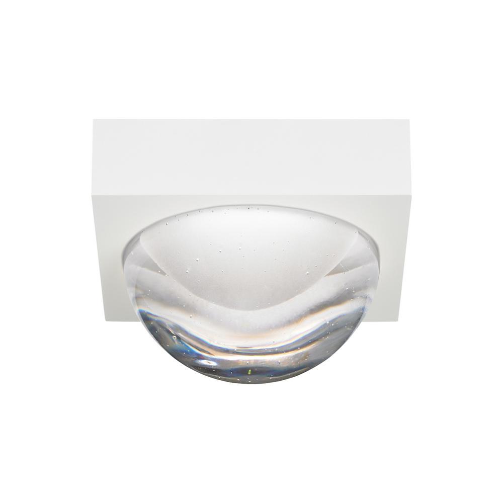 Sphere 1-Light Rubberized White LED Flushmount