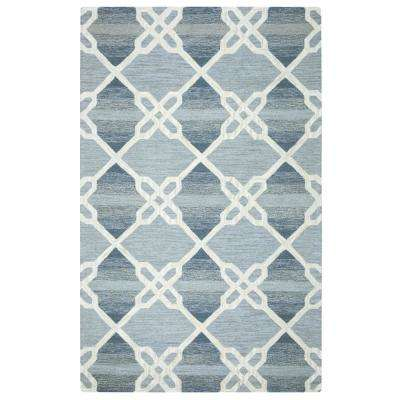 Caterine Blue 8 ft. x 10 ft. Rectangle Area Rug