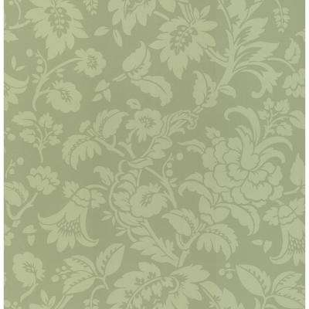 Madison Green Tonal Floral Wallpaper Sample
