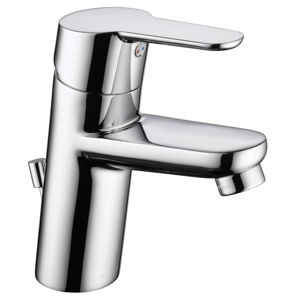 Delta Modern Low Flow Project Pack Single Hole Single-Handle Bathroom Faucet in Chrome