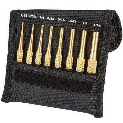Brass Drive Pin Punch Set (8-Piece)