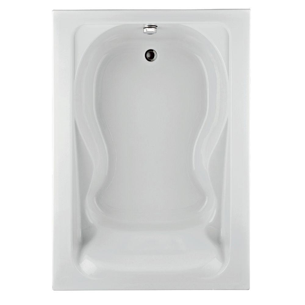 Cadet 6 ft. x 42 in. Reversible Drain Soaking Bathtub in