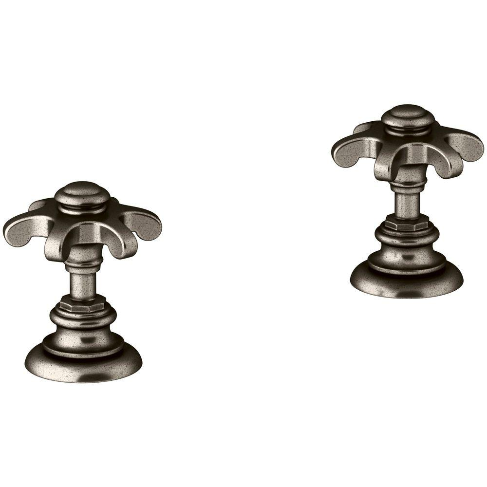 Kohler Artifacts Bathroom Sink Prong Handles in Vintage Nickel-K ...