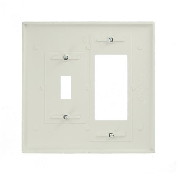 Leviton White 3 Gang 1 Toggle 1 Duplex Wall Plate 1 Pack 88605 The Home Depot