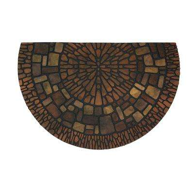 Exploded Medallions Multi 23 in. x 35 in. Door Mat