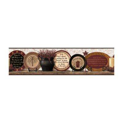 Best of Country Country Plates Wallpaper Border
