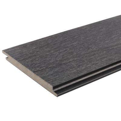 All Weather System 0.5 in. x 5.5 in. x 1 ft. Hawaiian Charcoal Composite Siding Sample Board