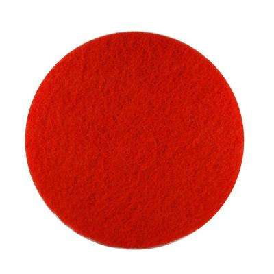 17 in. Non-Woven Red Buffer Pad (5-Pack)