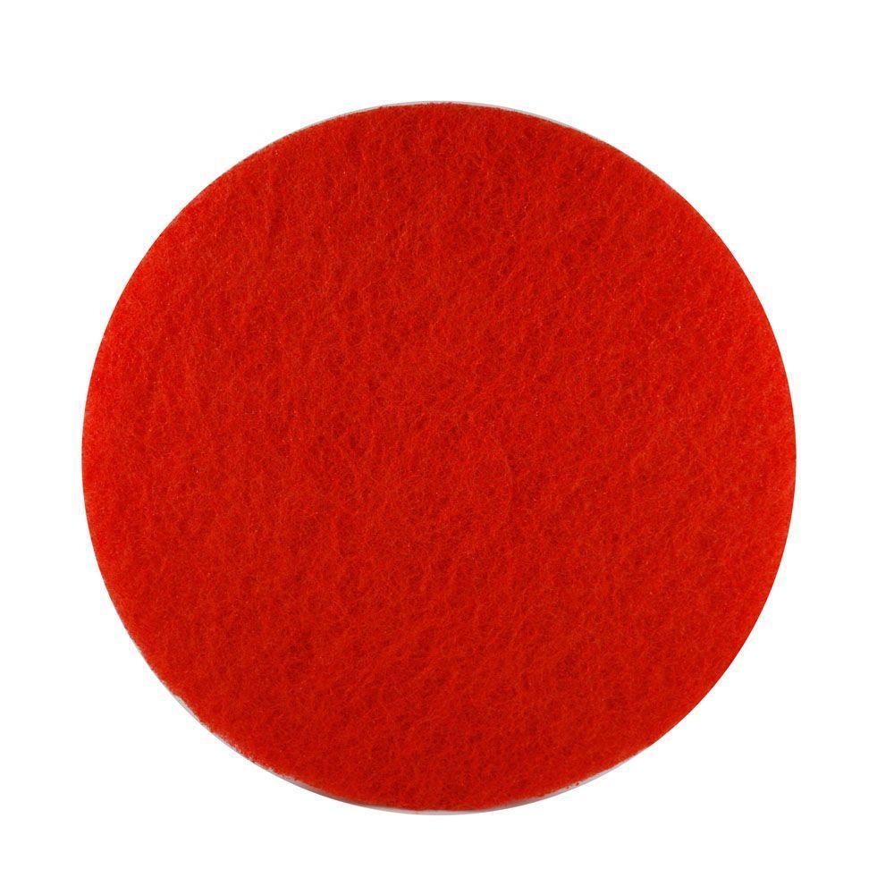 DIABLO 17 in. Non-Woven Red Buffer Pad