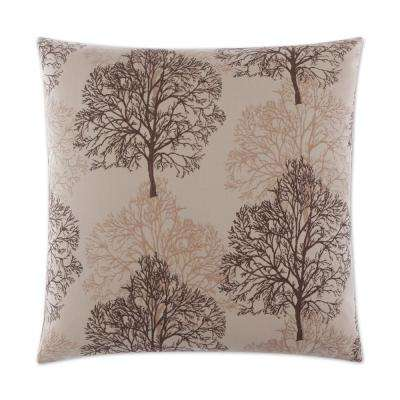 Nile Feather Down 24 in. x 24 in. Standard Decorative Throw Pillow