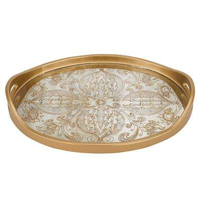 18 in. x 12 in. Manta Gold Oval Tray