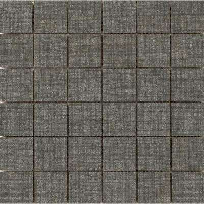 Canvas Denim 11.81 in. x 11.81 in. x 9mm Porcelain Mesh-Mounted Mosaic Tile (0.97 sq. ft.)