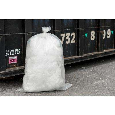 33 in. W x 48 in. H 42 Gal. 4.0 mil Clear Flat Seal Contractor Bags (50-Case)
