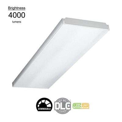 4 ft. 40-Watt White Integrated LED UNV Voltage Premium Wraparound Light