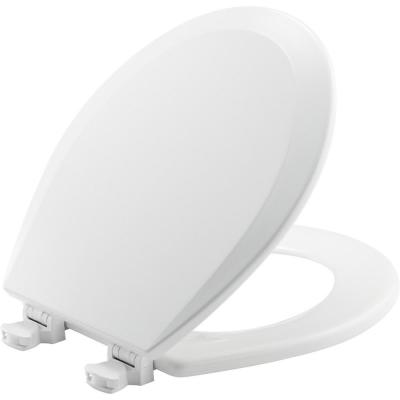 Lift-Off Round Closed Front Toilet Seat in White