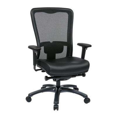 Black ProGrid High Back Office Chair