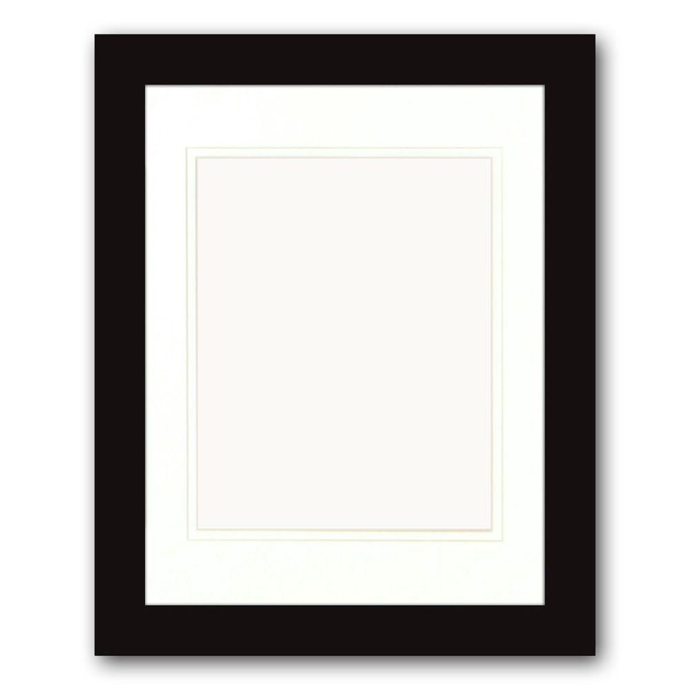 PTM Images 1-Opening 8 in. x 10 in. Matted Black Portrait Frame (Set ...
