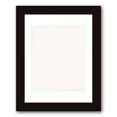 1-Opening. 8 in x 10 in. Matted Black Portrait Frame (Set of 2)