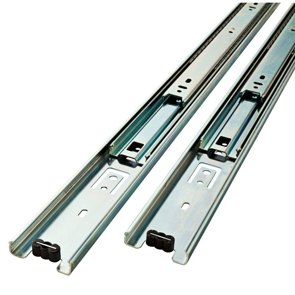 24 In Full Extension Side Mount Ball Bearing Drawer Slide 1 Pair