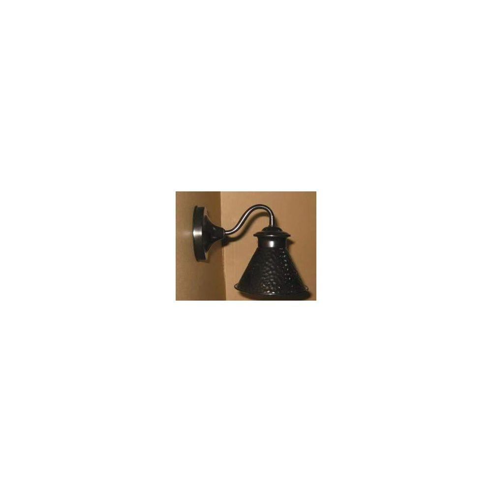 World Imports Dark Sky Kingston Collection 6 in. 1-Light Outdoor Short Arm Wall Sconce in Glossy Black-DISCONTINUED