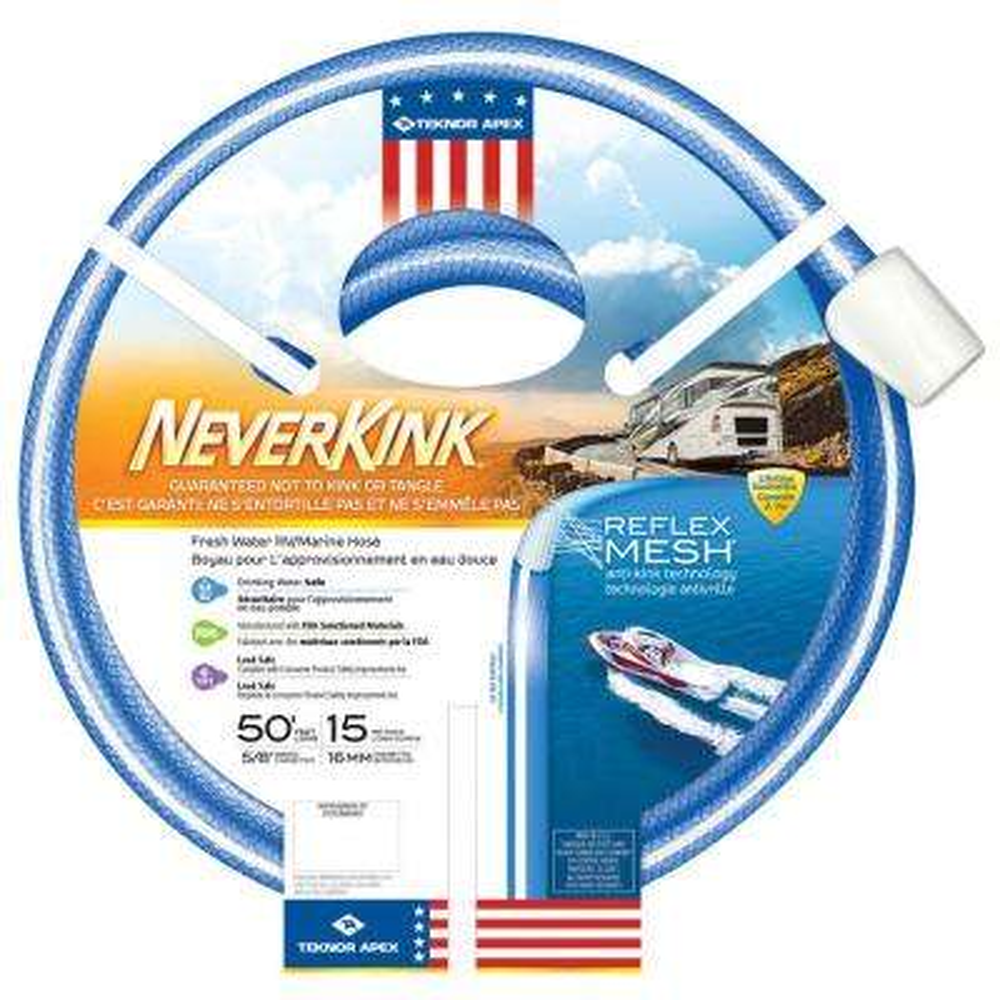 5/8 in. x 50 ft. NeverKink RV/Marine Water Hose