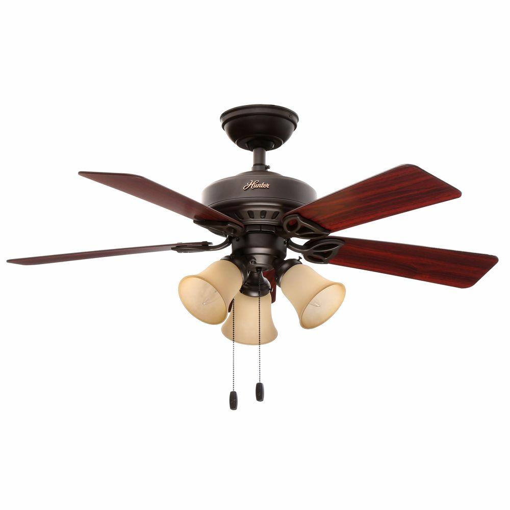 Hunter Beacon Hill 42 in. Indoor New Bronze Ceiling Fan with Light