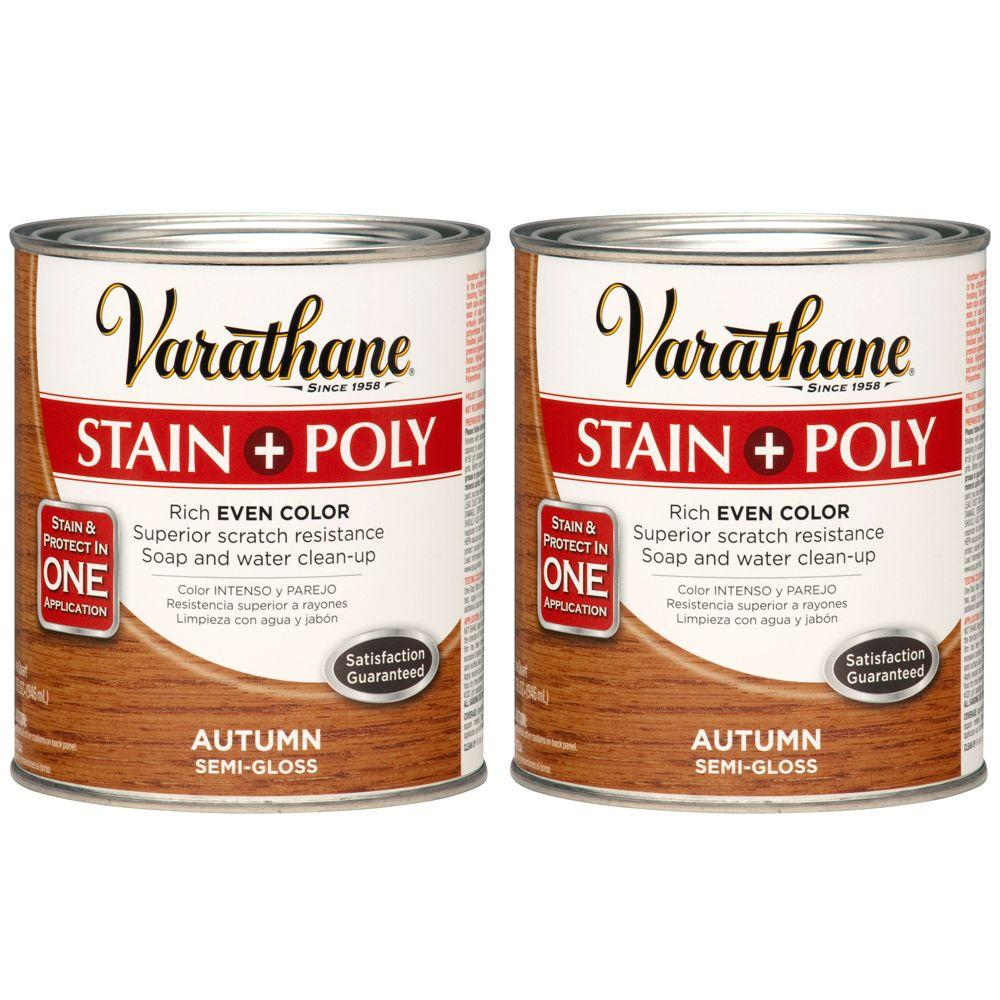 Varathane 1 Qt. Autumn Wood Stain and Polyurethane (2-Pack)-DISCONTINUED