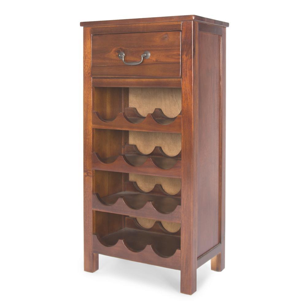 Eirinn 12-Bottle Dark Oak Wine Rack