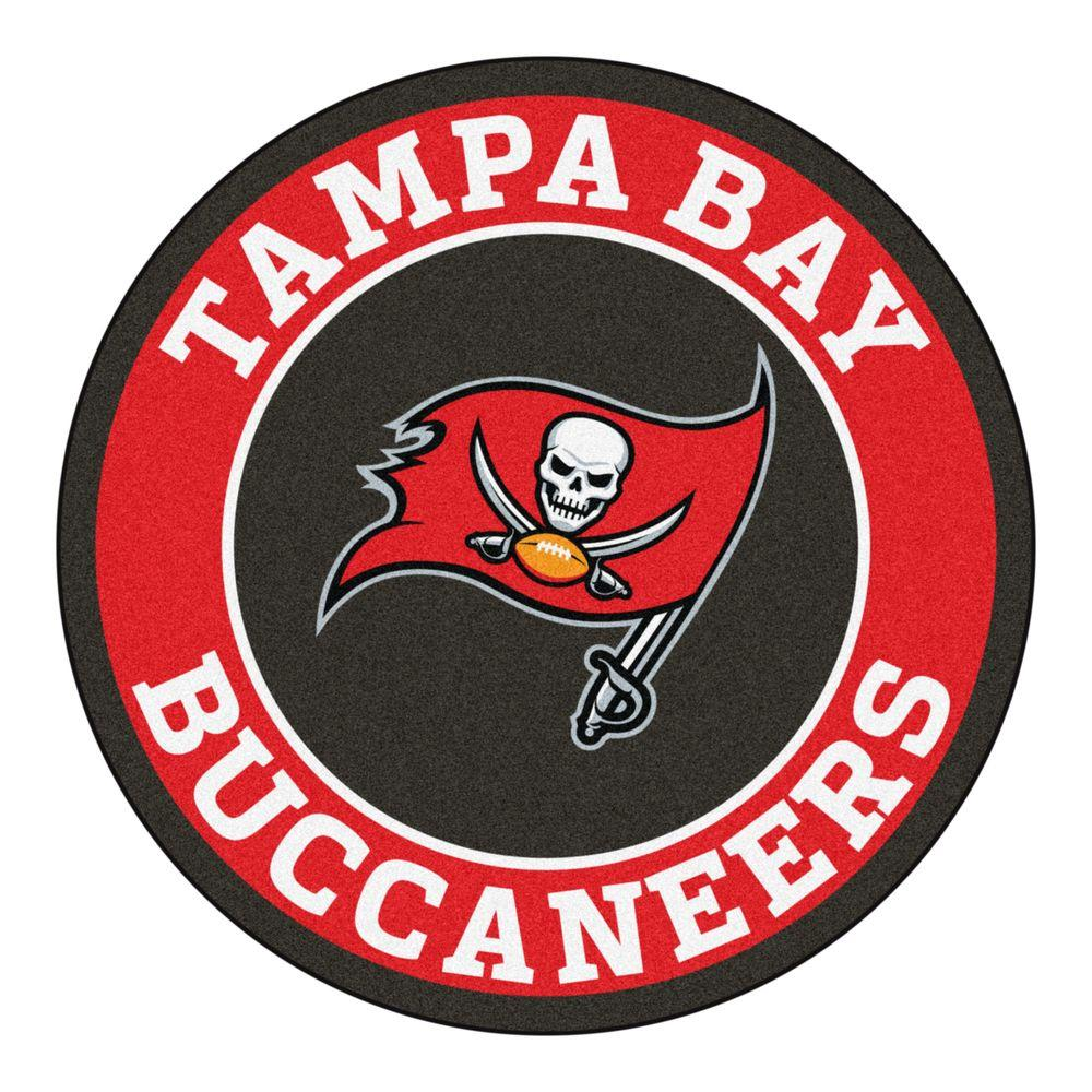 17eb87f8 FANMATS NFL Tampa Bay Buccaneers Red 2 ft. x 2 ft. Round Area Rug
