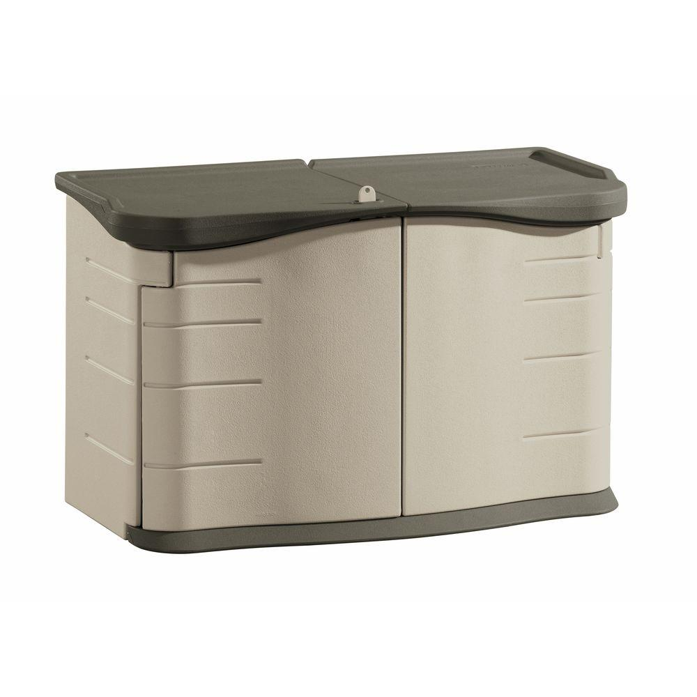 Rubbermaid 2 ft. 3 in. x 4 ft. 6 in. Split-Lid Horizontal Resin ...