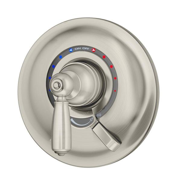 Allura 1-Handle Wall-Mounted Shower Valve Trim Kit in Satin Nickel (Valve not Included)