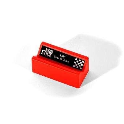 2-1/2 in. V-Block Magnetic Tool Holder, SAE Red with Labels (3-Piece)