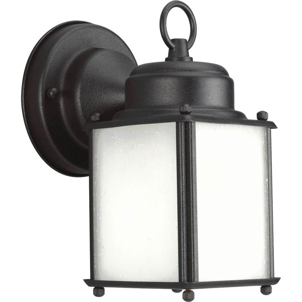 Progress Lighting Roman Coach Collection Wall Mount 8.5 in. Outdoor Black Wall Lantern Sconce