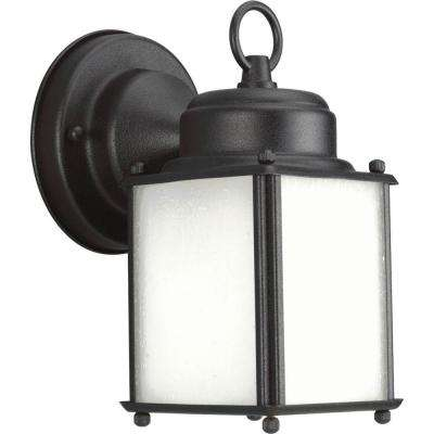 Roman Coach Collection Wall Mount 8.5 in. Outdoor Black Wall Lantern Sconce