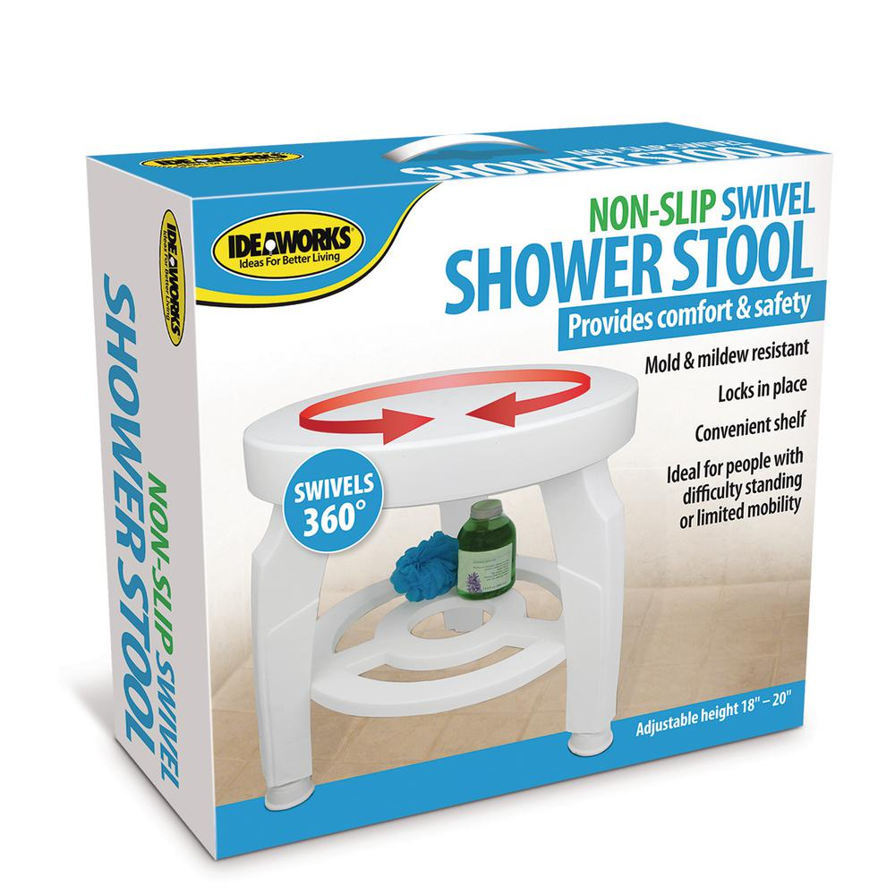 Ideaworks Swivel Shower Stool-JB5596 - The Home Depot