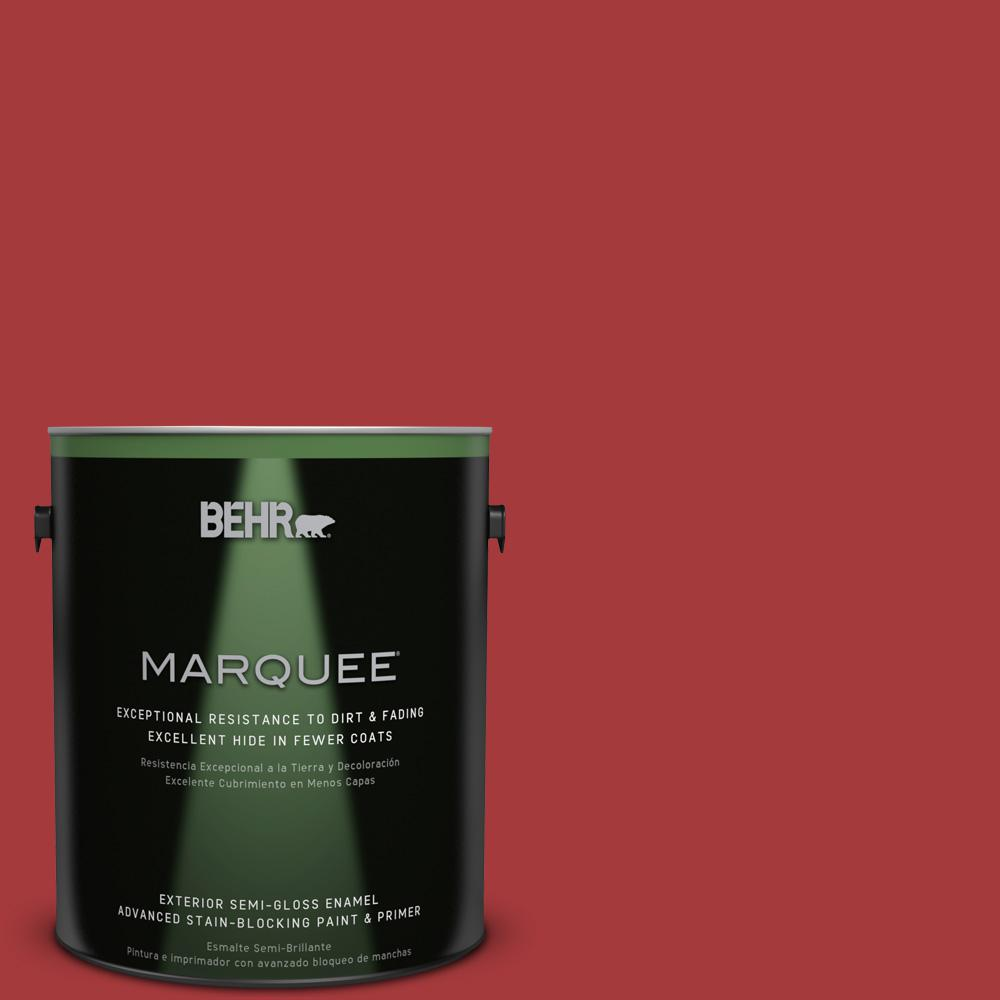 BEHR MARQUEE 1-gal. #UL100-7 Geranium Semi-Gloss Enamel Exterior Paint