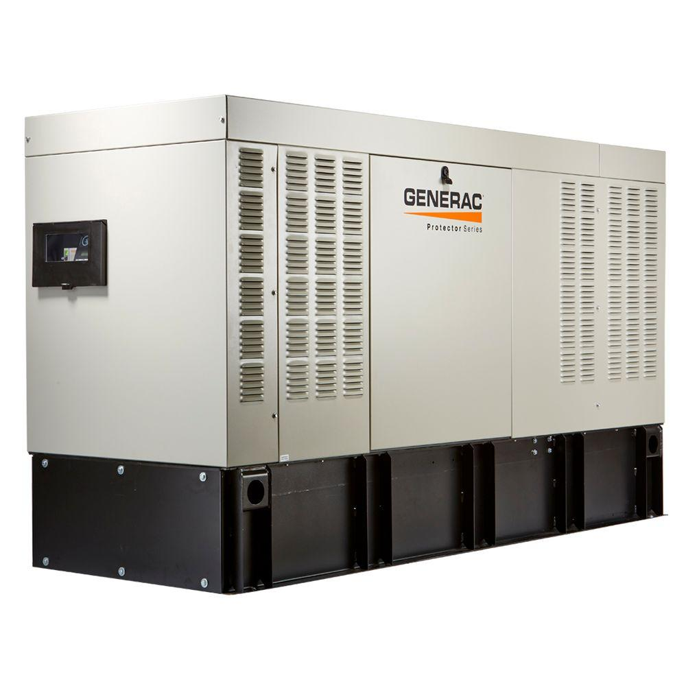 Generac Protector 50,000-Watt 120-Volt/208-Volt 3-Phase Liquid Cooled Automatic Standby Diesel Generator