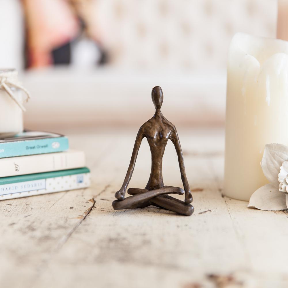 Female Yoga Lotus Cast Bronze Sculpture