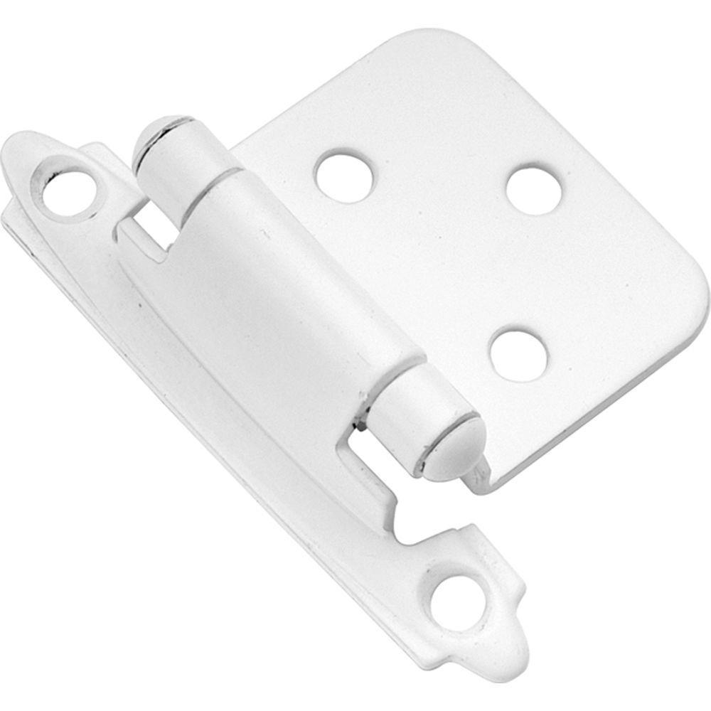 White Surface Self-Closing Hinge (2-Pack)