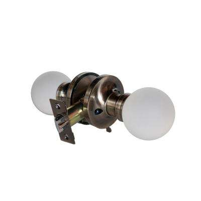 Moon Crystal Antique Brass Privacy Bed/Bath Door Knob with LED Mixing Lighting Touch Activated
