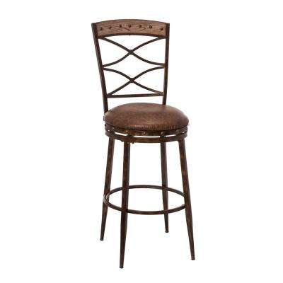 Emmons 26 in. Seat Height Swivel Washed Gray Counter Stool
