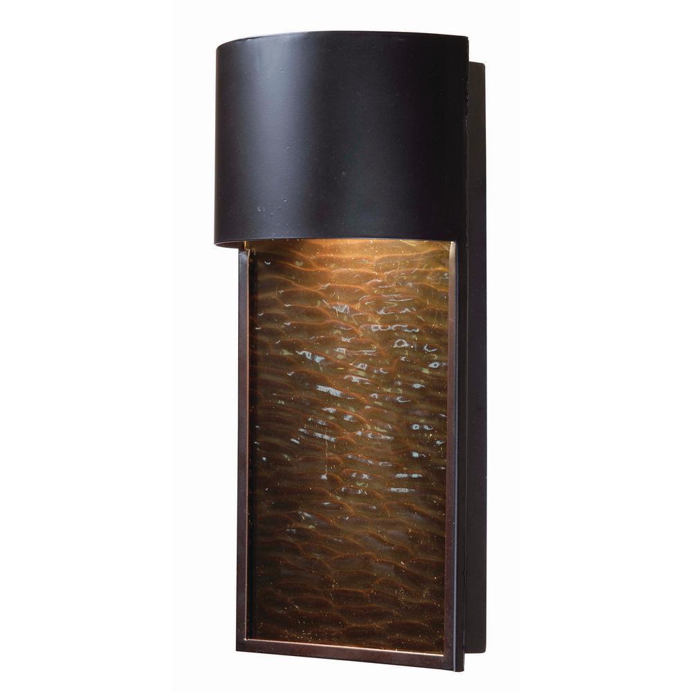 Kenroy Home Lightfall 1 Light Bronze Outdoor Wall Lantern Sconce