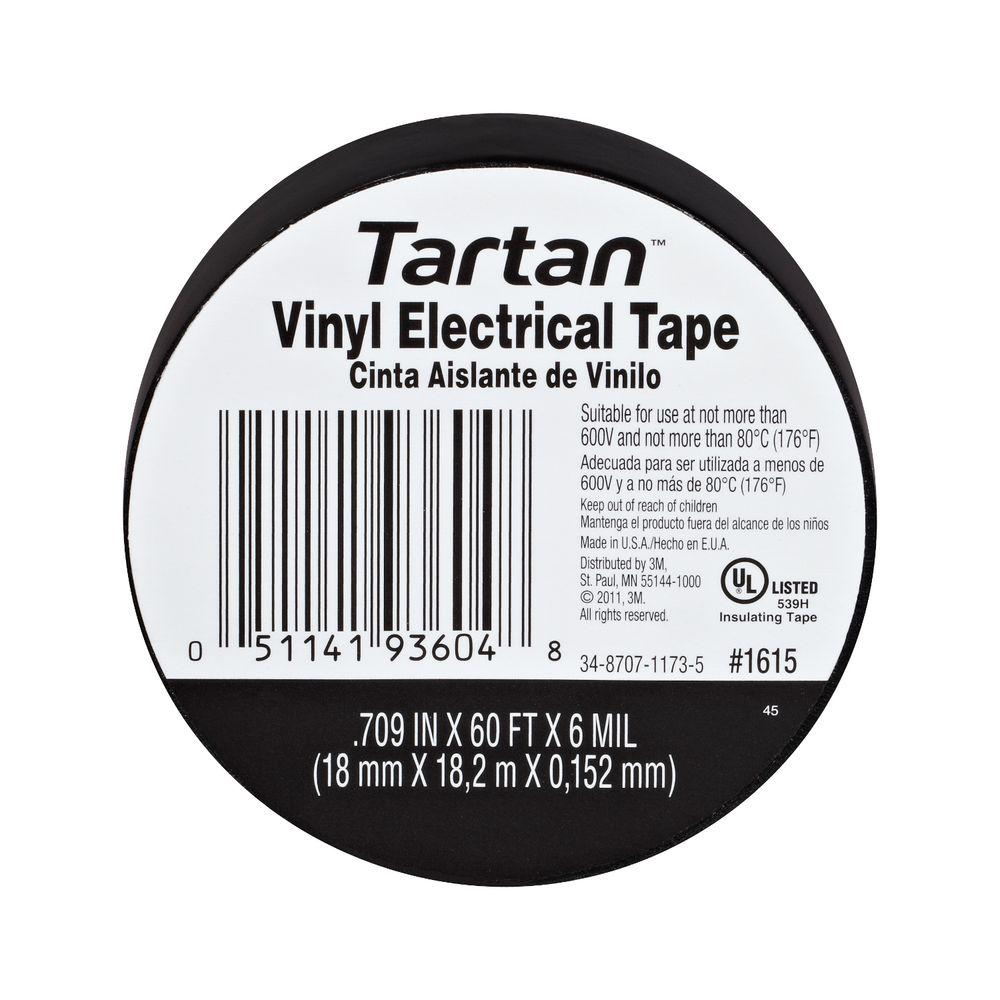 3M 0.70 in. x 60 ft. x 6 mm. Electrical Tape (10-Pack)