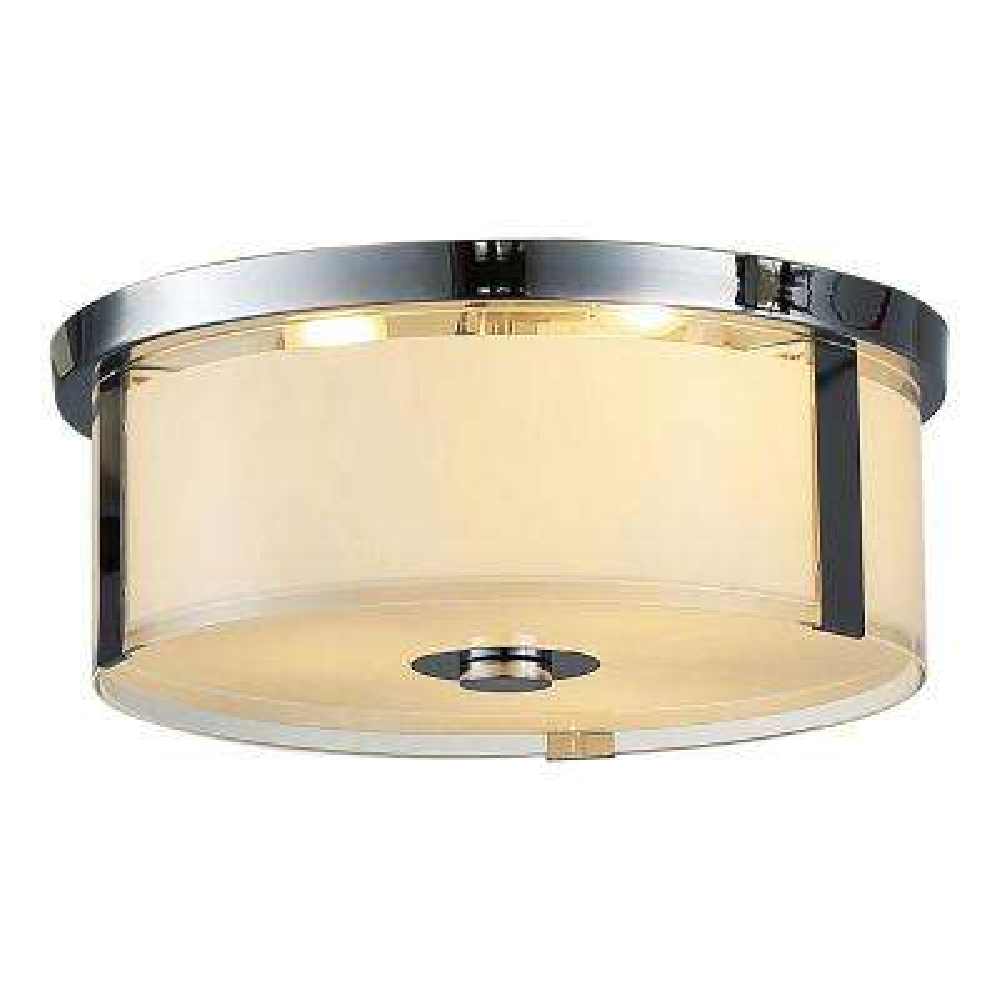 Bailey I 3-Light Chrome Flushmount Light