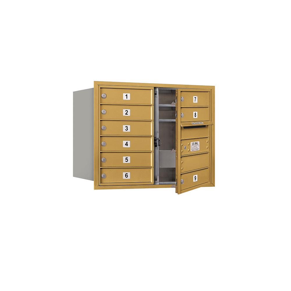 3700 Horizontal Series 9-Compartment Recessed Mount Mailbox