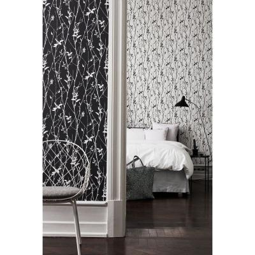 Black Spring Tree Wallpaper