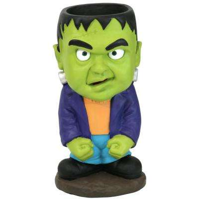 27 in. T Frankenstein Halloween Large Statue with Built-in Candy Bowl Dish