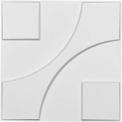 1 in. x 19-5/8 in. x 19-5/8 in. White PVC Nestor EnduraWall Decorative 3D Wall Panel
